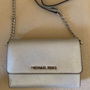Silver MICHAEL KORS small crossbody